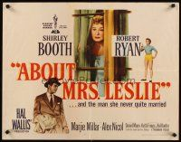 1y008 ABOUT MRS. LESLIE style A 1/2sh '54 Shirley Booth never quite married Robert Ryan!