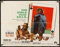 1y010 ACE HIGH 1/2sh '69 Eli Wallach, Terence Hill, spaghetti western, ace of spades design!