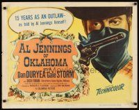 1y013 AL JENNINGS OF OKLAHOMA style B 1/2sh '50 real & violent story of last of the great outlaws!