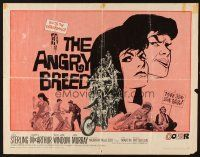 1y021 ANGRY BREED 1/2sh '68 bikers buck the establishment, cool artwork of angry youth!