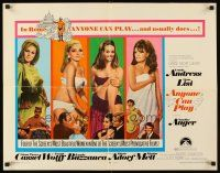 1y023 ANYONE CAN PLAY 1/2sh '68 sexiest near-naked Ursula Andress, Virna Lisi, Auger & Mell!
