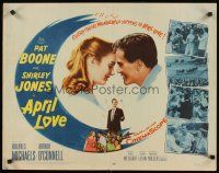 1y024 APRIL LOVE 1/2sh '57 romantic art of Pat Boone & sexy Shirley Jones!