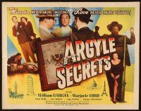 1y026 ARGYLE SECRETS 1/2sh '48 film noir from the world's most sinister best-seller!