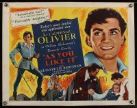 1y028 AS YOU LIKE IT 1/2sh R49 Sir Laurence Olivier in William Shakespeare's romantic comedy!