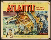 1y029 ATLANTIS THE LOST CONTINENT 1/2sh '61 George Pal underwater sci-fi, cool fantasy art!