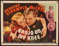 1y035 BANJO ON MY KNEE style A 1/2sh '36 sailor Joel McCrea in love with Barbara Stanwyck!
