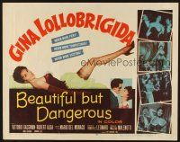1y041 BEAUTIFUL BUT DANGEROUS 1/2sh '57 full-length sexy Gina Lollobrigida!