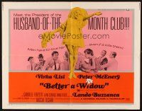 1y047 BETTER A WIDOW 1/2sh '69 sexy Virna Lisi goes from blushing bride to merry widow overnight!