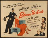 1y048 BETWEEN US GIRLS 1/2sh '42 Diana Barrymore, Robert Cummings, Kay Francis