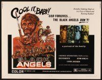 1y052 BLACK ANGELS 1/2sh '70 God forgives, but these crazed bikers don't, cool motorcycle art!