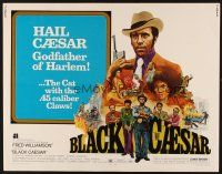 1y053 BLACK CAESAR 1/2sh '73 AIP Williamson blaxploitation, Godfather of Harlem art by G. Akimoto!