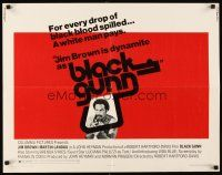 1y054 BLACK GUNN 1/2sh '72 Martin Landau, Brenda Sykes, Jim Brown is dynamite!