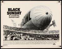 1y057 BLACK SUNDAY 1/2sh '77 Frankenheimer, Goodyear Blimp zeppelin disaster at the Super Bowl!