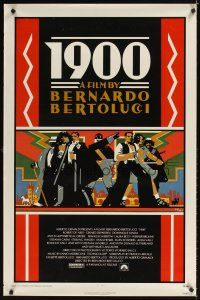 2c008 1900 1sh '77 Bernardo Bertolucci, Robert De Niro, cool Doug Johnson art!