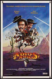 2c015 ADIOS AMIGO video 1sh '75 Fred Williamson & Richard Pryor are two sharp dudes!