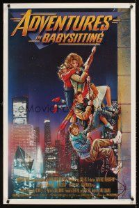 2c017 ADVENTURES IN BABYSITTING 1sh '87 artwork of young Elisabeth Shue by Drew Struzan!