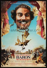 2c018 ADVENTURES OF BARON MUNCHAUSEN 1sh '89 Terry Gilliam, John Neville & Uma Thurman!