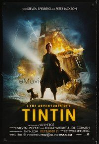 2c020 ADVENTURES OF TINTIN teaser DS 1sh '11 Steven Spielberg's version of the Belgian comic!