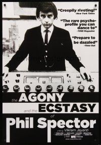 2c022 AGONY & THE ECSTASY OF PHIL SPECTOR 1sh '09 cool image of troubled music producer!