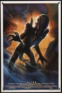 2c027 ALIEN Kilian style A 1sh R94 Ridley Scott outer space sci-fi horror, cool Alvin art!
