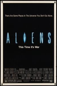 2c031 ALIENS 1sh '86 James Cameron, there are some places in the universe you don't go alone!