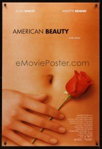 2c034 AMERICAN BEAUTY DS 1sh '99 Sam Mendes Academy Award winner, sexy close up image!