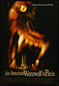 2c036 AMERICAN WEREWOLF IN PARIS int'l DS 1sh '97 horror image of giant werewolf & Eiffel Tower!