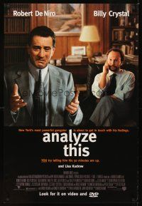 2c039 ANALYZE THIS video 1sh '99 psychiatrist Billy Crystal is analyzing gangster Robert DeNiro!