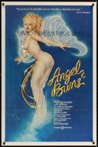2c040 ANGEL BUNS 1sh '81 Veronica Hart, sexy artwork by Olivia De Berardinis!