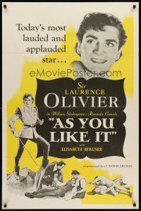 2c047 AS YOU LIKE IT 1sh R49 Sir Laurence Olivier in William Shakespeare's romantic comedy!