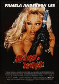 2c061 BARB-WIRE video 1sh '96 sexiest comic book hero Pamela Anderson in title role w/gun!