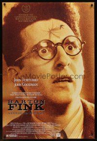 2c062 BARTON FINK DS 1sh '91 Coen Brothers, wacky c/u of John Turturro with mosquito on forehead!