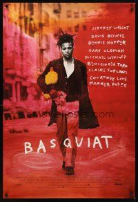 2c063 BASQUIAT 1sh '96 Jeffrey Wright as Jean Michel Basquiat, directed by Julian Schnabel!