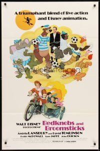 2c074 BEDKNOBS & BROOMSTICKS 1sh R79 Walt Disney, Angela Lansbury, great cartoon art!