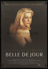 2c077 BELLE DE JOUR DS 1sh R95 Luis Bunuel, close up of sexy Catherine Deneuve!