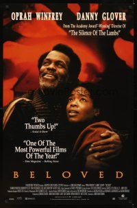 2c078 BELOVED video 1sh '98 Oprah Winfrey, Danny Glover, Jonathan Demme!