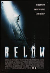 2c079 BELOW advance DS 1sh '02 six hundred feet beneath the surface terror runs deep!