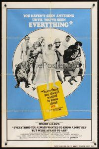 2j327 EVERYTHING YOU ALWAYS WANTED TO KNOW ABOUT SEX style B 1sh '72 Woody Allen directed!