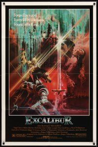 2j329 EXCALIBUR 1sh '81 John Boorman directed, Robert Addie as Mordred in mask!