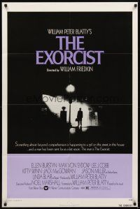 2j331 EXORCIST 1sh '74 William Friedkin, Max Von Sydow, horror classic from William Peter Blatty!