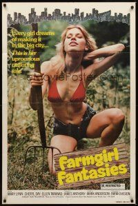2j341 FARMGIRL FANTASIES 1sh '70s sexy Mary Lynn in skimpy outfit in the country!