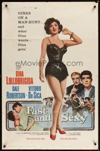 2j342 FAST & SEXY 1sh '60 de Sica, who could ask for more than sexy Gina Lollobrigida!