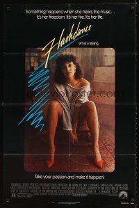 2j357 FLASHDANCE 1sh '83 sexy dancer Jennifer Beals, take your passion and make it happen!