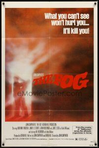 2j364 FOG 1sh '80 John Carpenter, Jamie Lee Curtis, there's something out there!