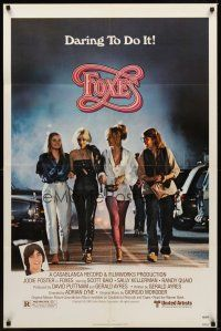 2j371 FOXES 1sh '80 Jodie Foster, Cherie Currie, Marilyn Kagen + super young Scott Baio!