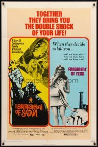 2j373 FRAGMENT OF FEAR/BROTHERHOOD OF SATAN 1sh '71 double shock of your life!