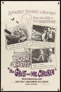 2j385 GHOST & MR. CHICKEN military 1sh '66 wacky Don Knotts, you'll laugh yourself silly!