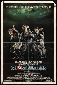 2j387 GHOSTBUSTERS 1sh '84 Bill Murray, Dan Aykroyd, Harold Ramis They're Here to Save The World!