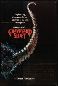 2j397 GRAVEYARD SHIFT 1sh '90 Stephen King, cool completely different art of giant rat tail!