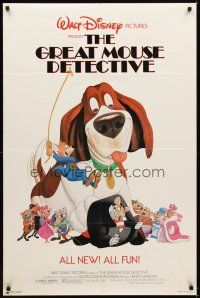 2j401 GREAT MOUSE DETECTIVE 1sh '86 Walt Disney's crime-fighting Sherlock Holmes rodent cartoon!